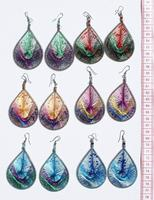 Thread shining earrings