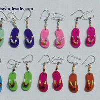 Boucles d'oreilles chaussures de plage