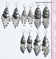 Alpaca ethnic earrings
