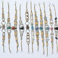 Bambu e piedra pulseiras