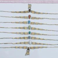 Bamboo piedra necklaces