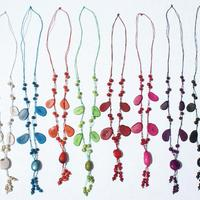 Color tagua necklaces