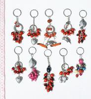 Porte-clés graines huayruro