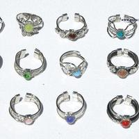 Alpaca rings with stones
