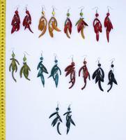 Brincos de sementes de cor