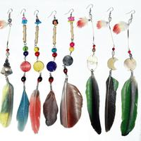 Plumas coloreadas