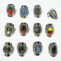 Rings with glass