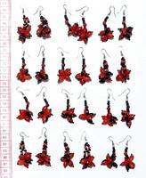 Huayruro seed earrings