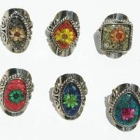 Anéis de flores secas