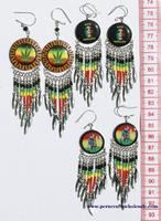Rasta style earrings
