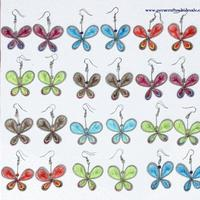 Thread butterfly earrings