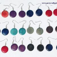 Round tagua earrings