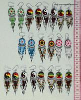 Beaded peruavian earrings