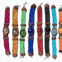 Leather murano bracelets