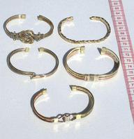 Yellow cuff bracelets