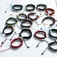 Color pulseras de semillas