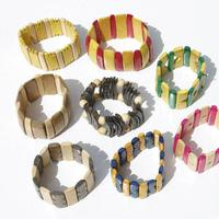 Color wooden bracelets