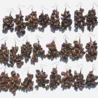 Earrings of coffee beans