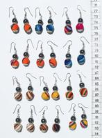 Magnetic bead and Seed earrings
