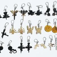 Nazka lines horn earrings