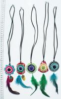 Necklaces with feathers