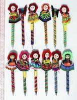 Bolígrafos muñeca peruanos