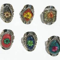 Dry flowers rings